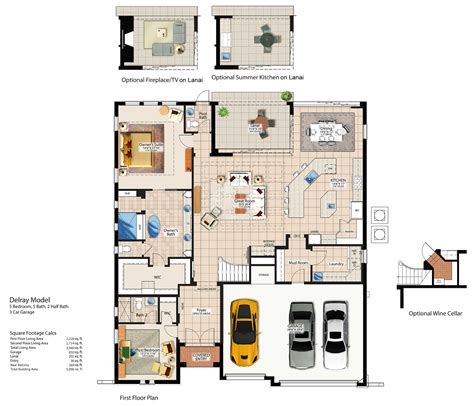 Estella Gardens Floor Plan by Floor Plans And 3d Tours Canopy Oaks