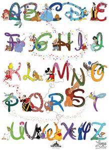 disney alphabet as graphics project zoee liu
