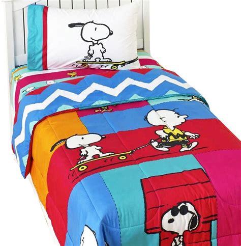 charlie brown bedding charlie brown peanuts bed sheet set snoopy be cool