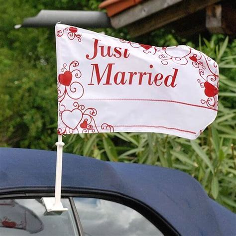 Just Married Autodeko by Autodeko Set Quot Just Married Quot Zur Hochzeit Weddix De