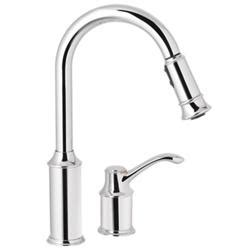 moen kitchen faucet model number moen aberdeen single handle high arc pulldown kitchen faucet
