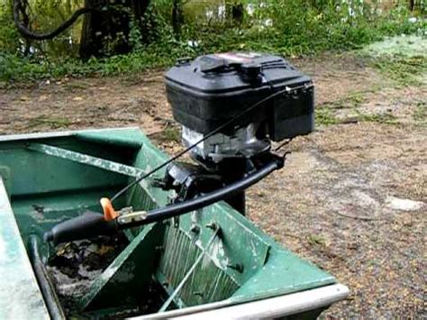 small boat motor covers lawn mower engine conversion to homemade outboard motor