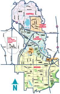 Irving Zip Code Map by Irving Coppell Texas Yellow Page Advertising Everyday
