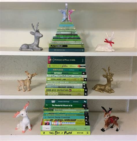 christmas tree books stack of green books makes a fun christmas tree 183 a