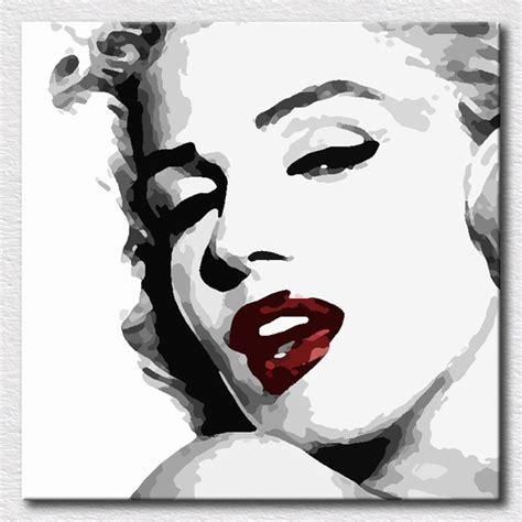 black and white paintings for bedroom beautiful art painting marilyn monroe pop art paintings