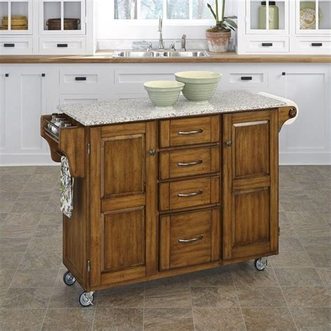 furniture style kitchen island home styles furniture grey granite island kitchen cart ebay