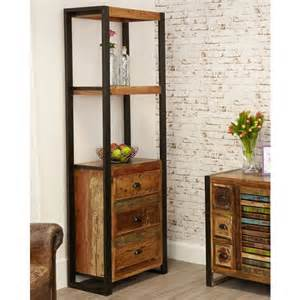 narrow bookcase with drawers narrow industrial bookcase with drawers see more at big