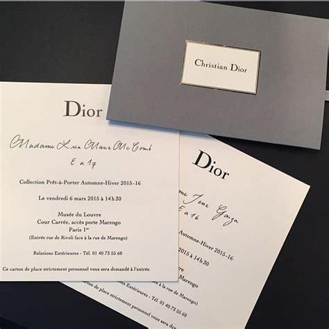 Dior Gift Card - dior fashion show invite presentaion pinterest dior fashion dior and fashion