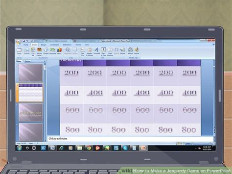 How To Make A Jeopardy Game On Powerpoint With Pictures Jeapordy Maker