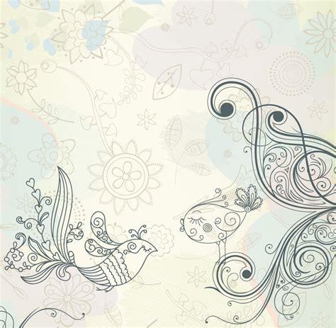 wallpaper vintage hitam putih レトロな線画パターンの背景 retro pattern vector background イラスト素材 ai