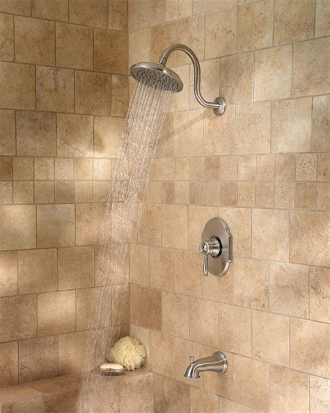 Shower Plumbing Fixtures by Pfister Hanover 1 Handle Tub Shower Faucet Brushed