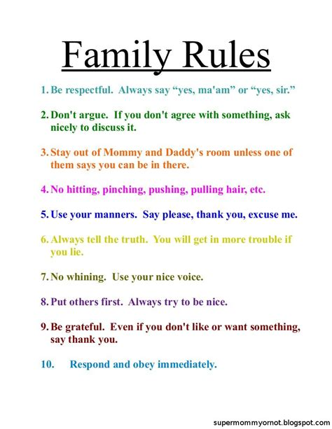family house rules family rules list parenting pinterest family rules
