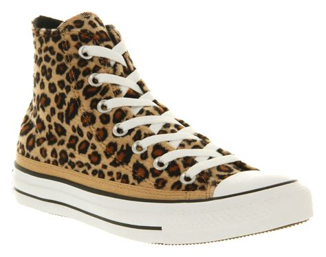 leopard print shoes for converse all hi leopard print faux fur smu trainers