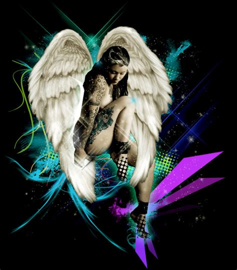 colored angel tattoo color design www pixshark images