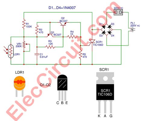 auto dimming night light circuit diagram of automatic light switch efcaviation com