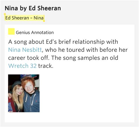 ed sheeran nina lyrics 3nr5xs3hbxj1zeq189ipencq png