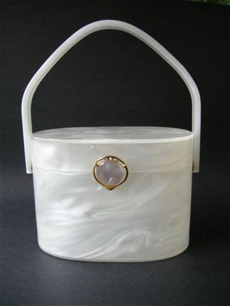 Mcclintocks Marbled Lucite Clutch The Bag by Stylecraft Miami Marbled Lucite Purse Delicious Vintage