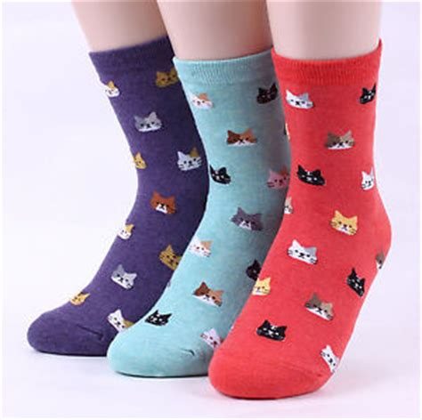 caterpillar socks free delivery free shipping cat friends socks 5 pack kitten pattern socks uk bl ebay
