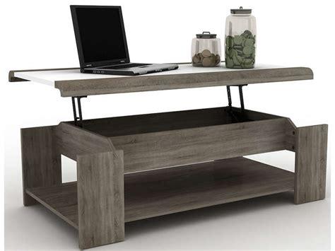 Table Basse Bar Conforama 6985 by Table Basse Relevable Lift Coloris Blanc Sonoma Vente De