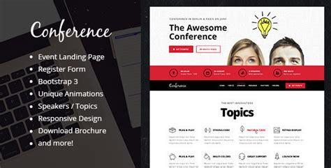 20 best responsive entertainment landing page templates