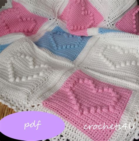 heart pattern baby blanket crochet pattern heart afghan crochet blanket pattern baby