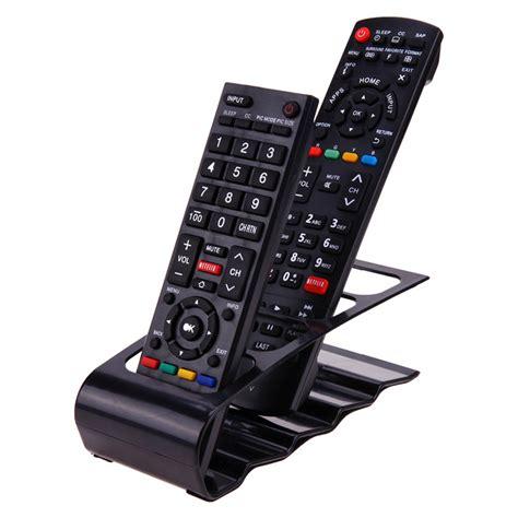 Holder Remote Controls Tempat Naruh Remote 4 cell tv dvd remote holder desktop phone organizer plastic shelf stand storage racks