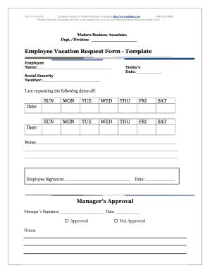 Employee Vacation Request Form Template Free Fillable Printable Top Forms To Download Time Request Form Template Pdf