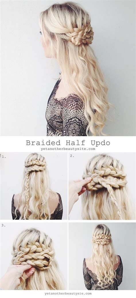 how to do full crown hairstyles super easy diy braided hairstyles for wedding tutorials