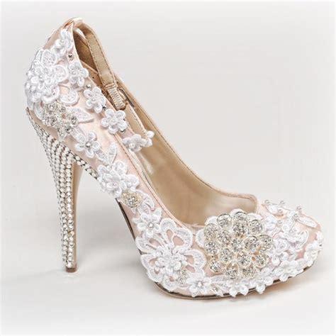 elara damen pumps bequeme strass high heels hochzeits