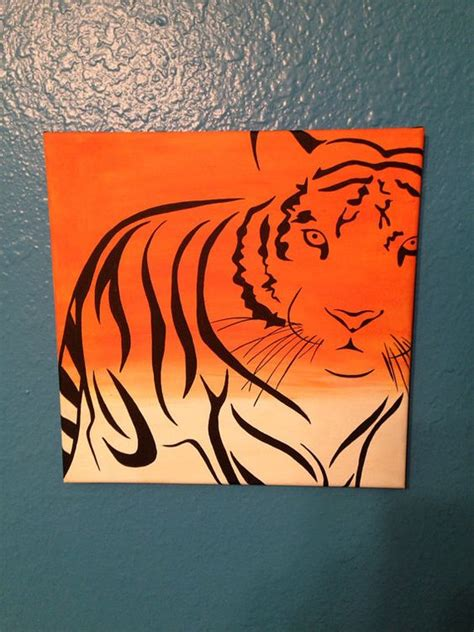 cool painting ideas on canvas tiger canvas painting custom order at www etsy com