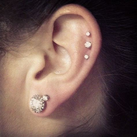 in with my new cartilage ear piercing