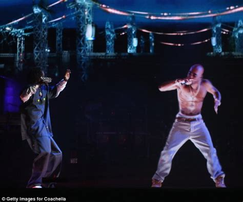 tupac at coachella rapper comes alive via hologram to tupac alive suge knight stuns fans by suggesting rapper