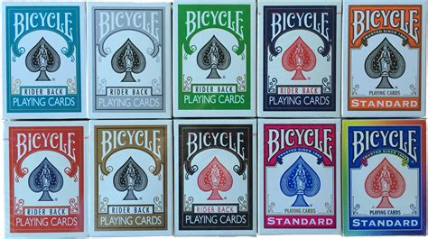 United States Card Company Bicycle Cards Box Template by Bicycle Cards Color Deck Bundle 10 Decks Green