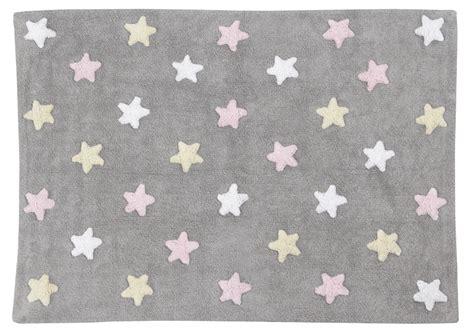 tappeti rosa tappeto tricolore stelle grigio e rosa