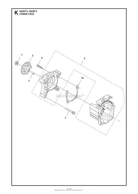 husqvarna bts   parts diagram  crankcase