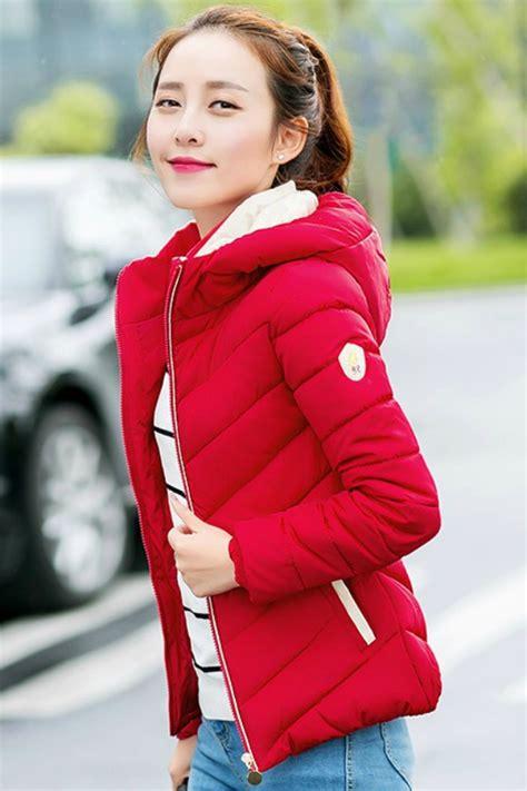 Hoodie Jaket Baju Hangat Pull 1 jaket hoodie wanita korea korean jacket jyf6622red