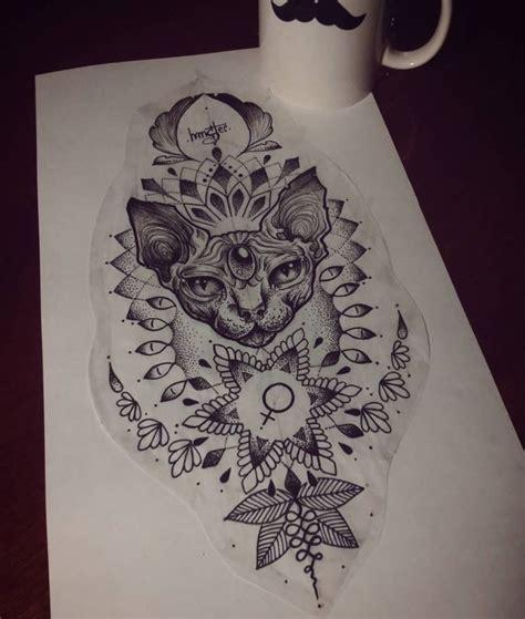 mandala tattoo glasgow best 25 geometric cat tattoo ideas on pinterest