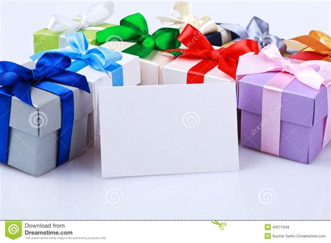 Greeting Card Gift Boxes - greeting card with gift boxes stock photo image 43011648