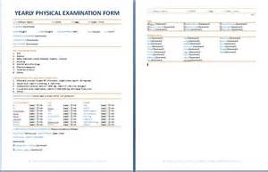 veterinary physical template yearly physical examination form daily forms