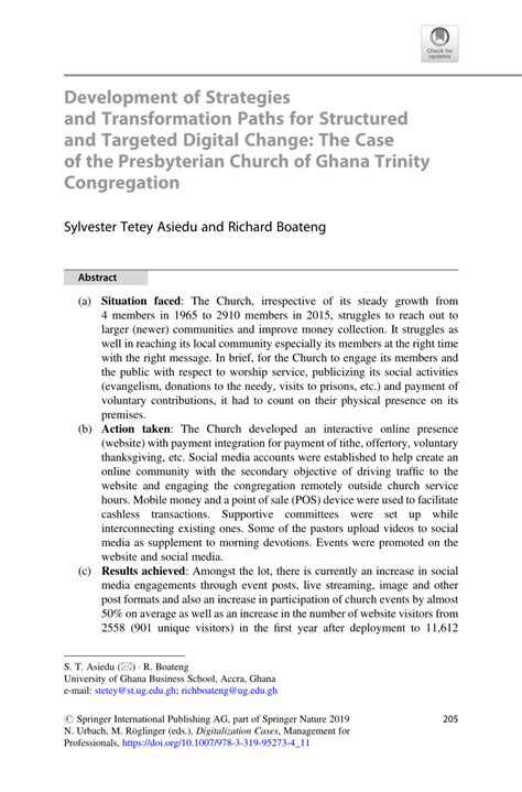 (PDF) Development of Strategies and Transformation Paths