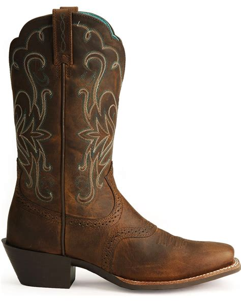 country boots ariat saddle v legend boots square toe