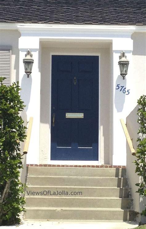 navy cobalt blue door white house add window boxes