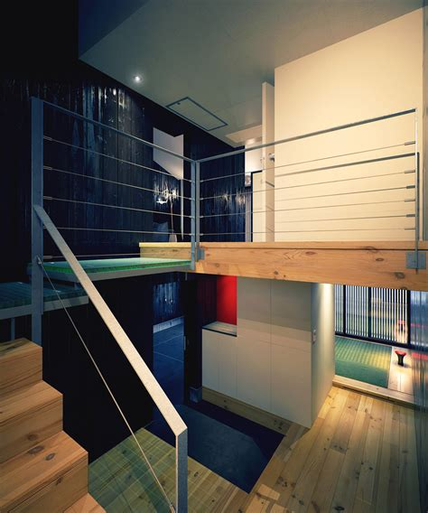 mezzanine design modern japanese home