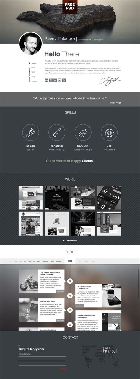 pinterest layout psd polifoli free psd portfolio template great pin for