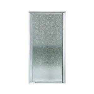 Sterling Pivot Shower Door Installation Shop Sterling Vista Pivot Ii 31 2500 In To 36 In Framed Silver Pivot Shower Door At Lowes