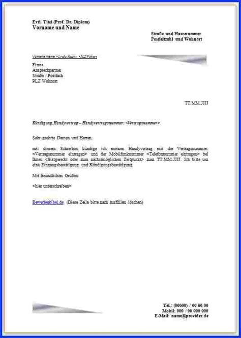 9 vorlage k 252 ndigung handyvertrag expense report