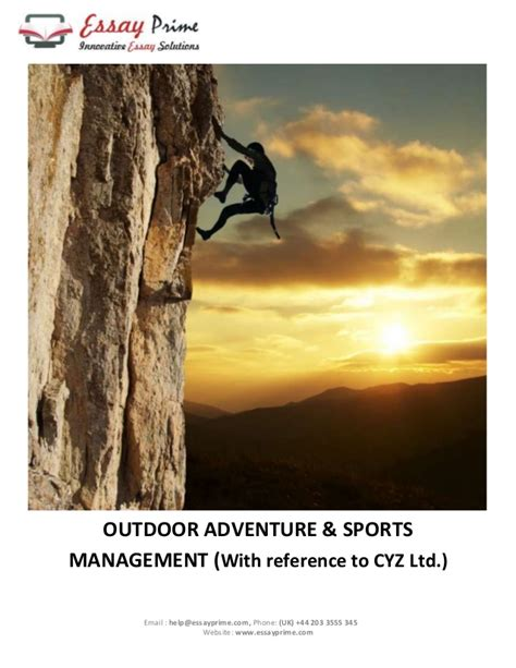 Essay On Adventure Sports by Outdoor Adventure Sports Essay Sle