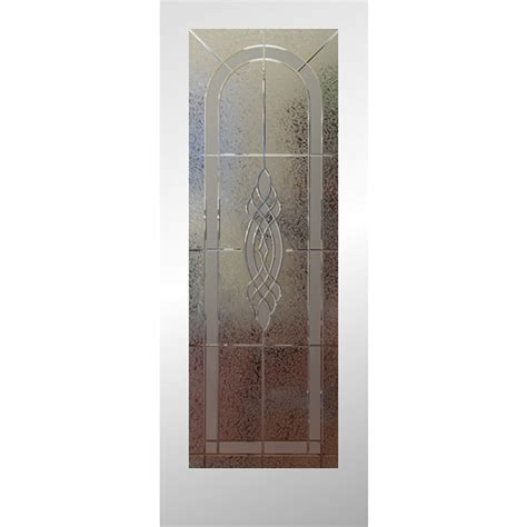 Etched Glass Interior Doors Shop Reliabilt Lite Etched Glass Slab Interior Door Common 24 In X 80 In Actual 24 In X
