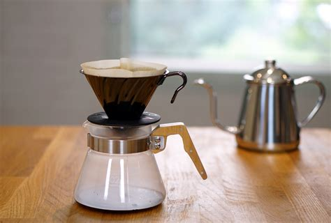 Diguo V60 Dripper Metal Filter With Wood Handle Server 400 Ml Diskon kono meimon 2 person coffee dripper set wood
