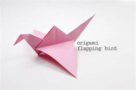 How To Make A Origami Bird That Flaps Its Wings - origami flapping bird tutorial